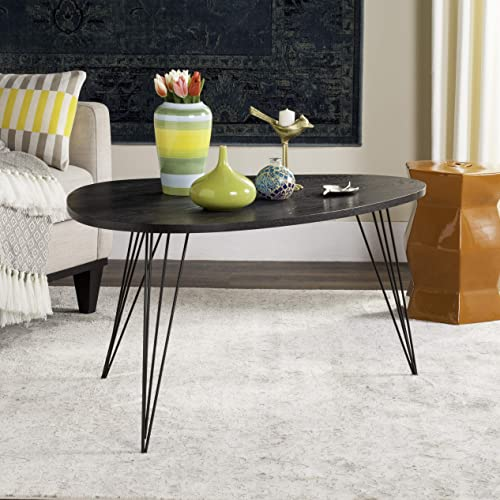 Safavieh Home Collection Rocco Retro Mid-Century Black Wood Coffee Table