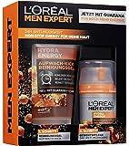L 'Oréal Men Expert Hydra Energy cadeauset, voor mannen 24H vochtverzorging met Guarana (50 ml) en wasgel (100 ml) voor…
