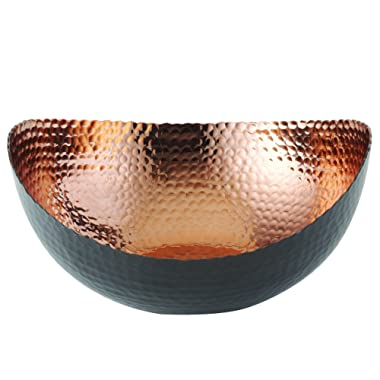 Elegance 72071 Eclipse Bowl, 10  x 9.75 , Black/Copper
