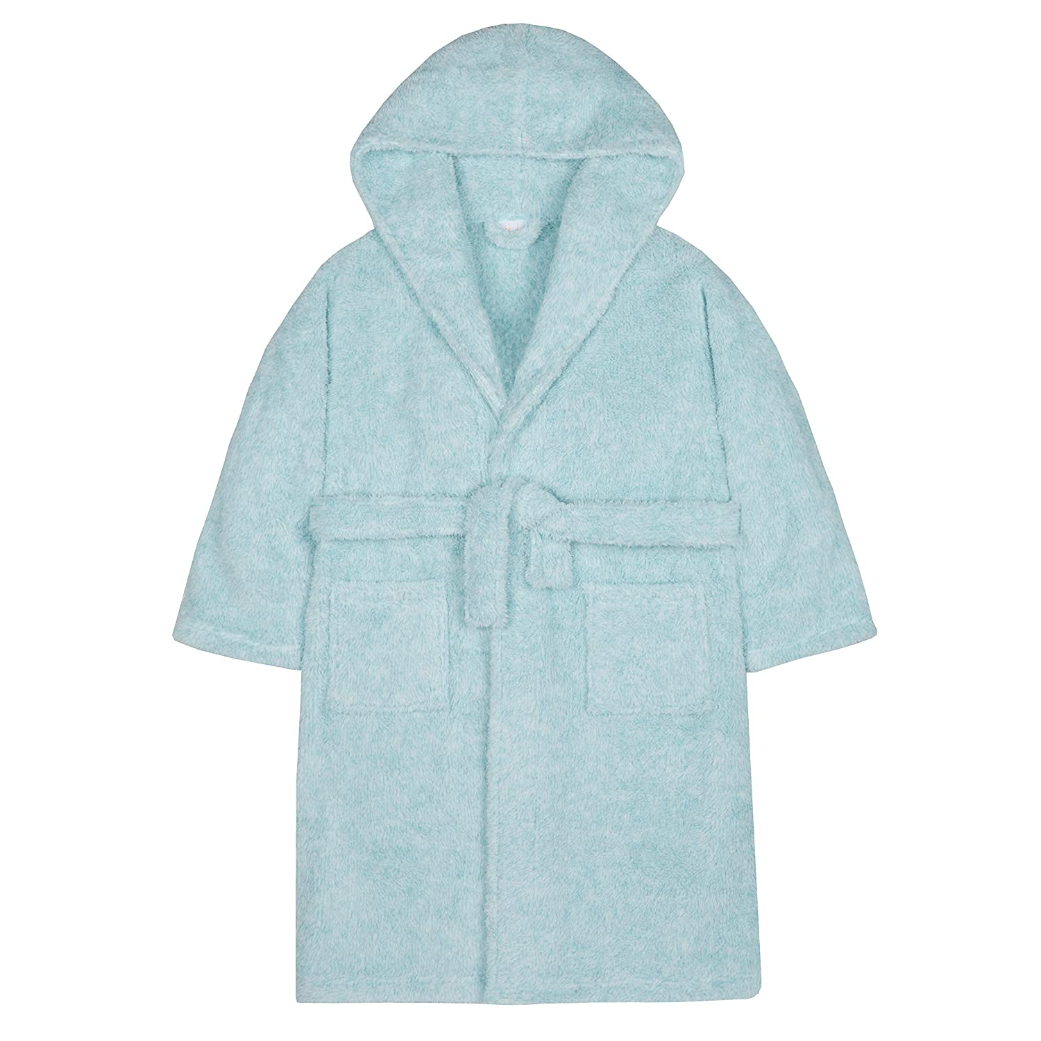 4Kidz Girls Snuggle Fleece Two Tone Dressing Gown with Hood