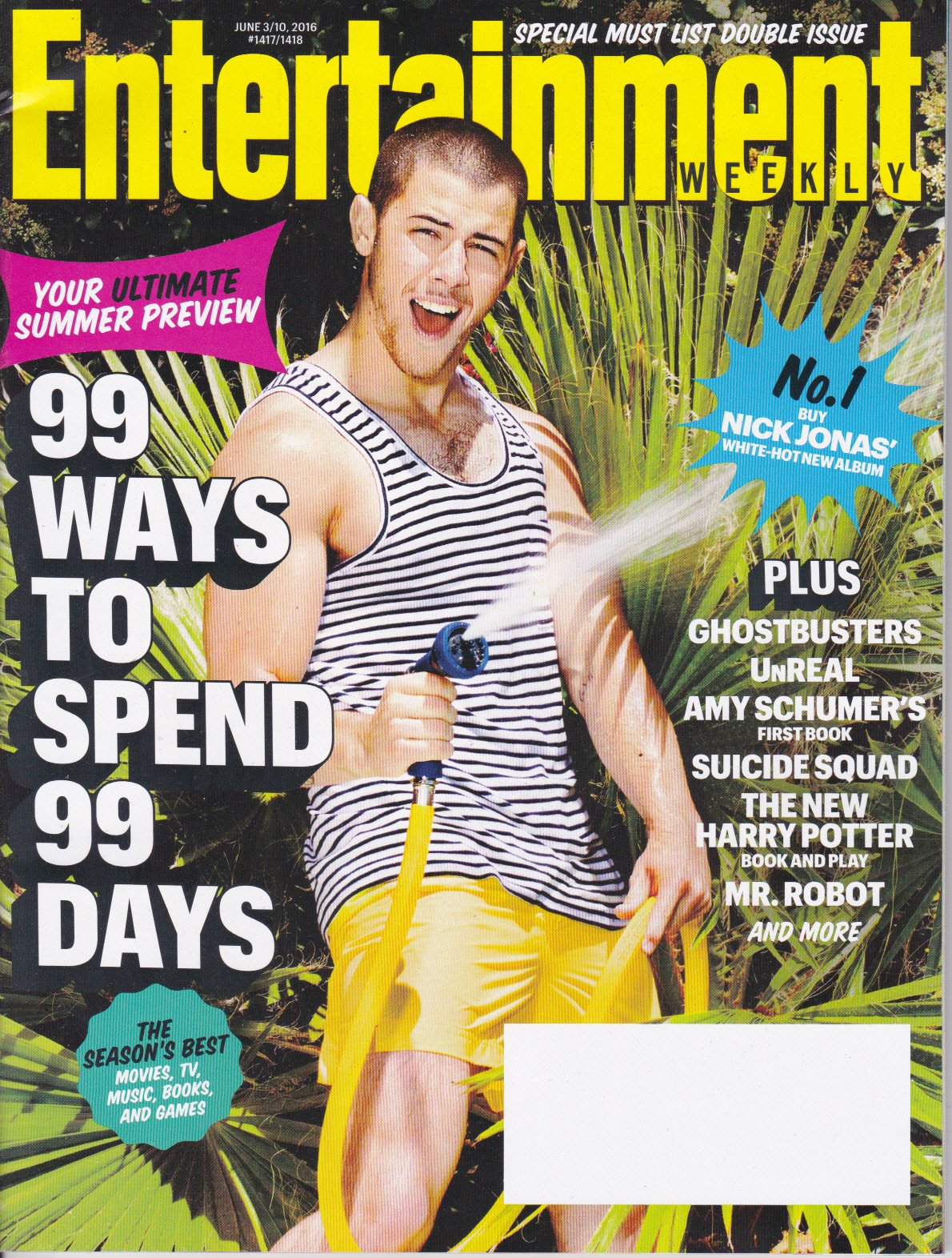 Download Entertainment WEEKLY June 3 - 10, 2016 NICK JONAS Cover 99 Ways to Spend 99 Days pdf