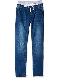 abc9a840777 Leo Lily Big Boys  Kids  Husky Rib Waist Stretch Denim Jeans Pants