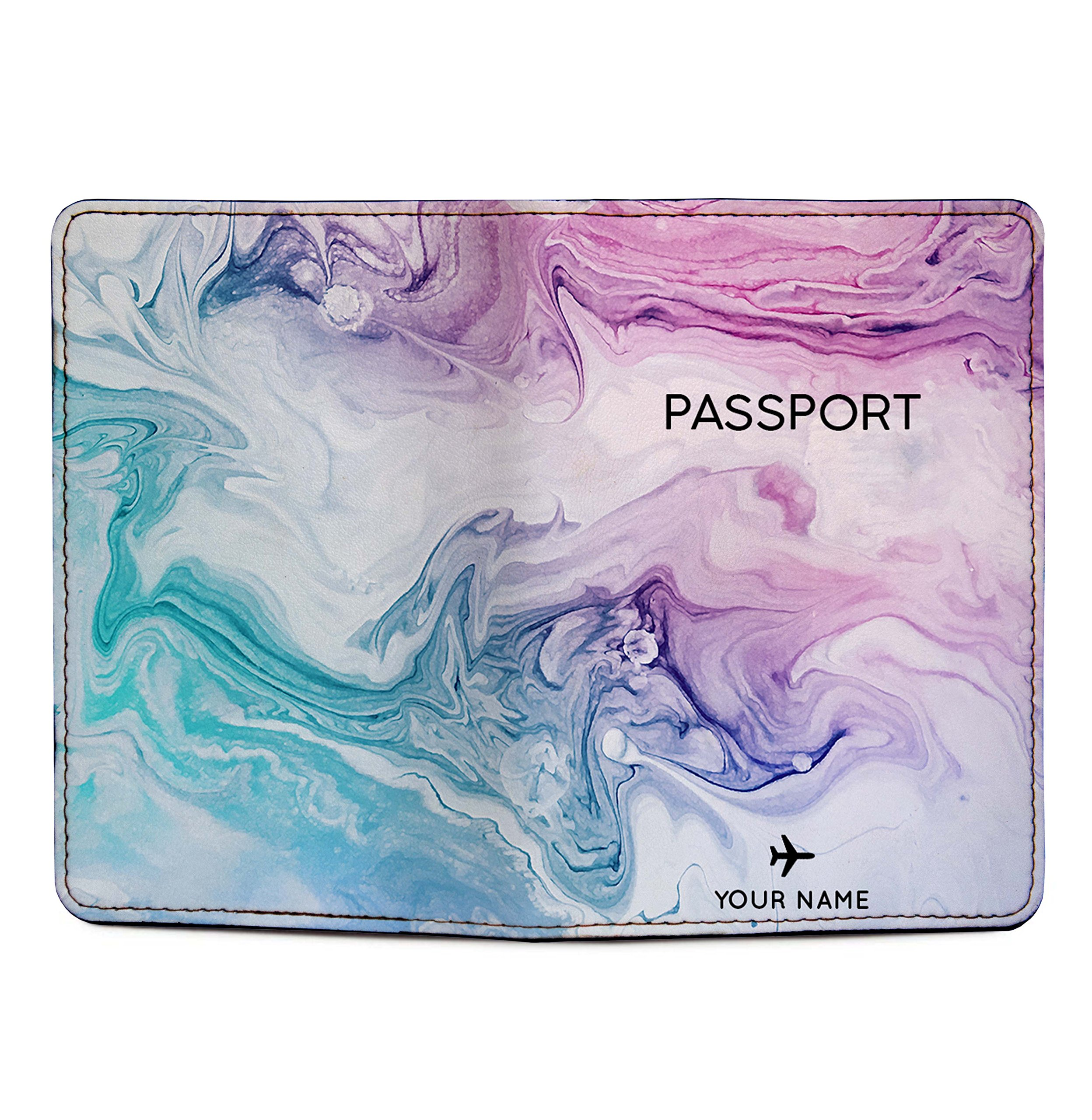 Personalized RFID Blocking Leather Passport Holder - Marble Passport Cover by With Love From Julie (Image #3)