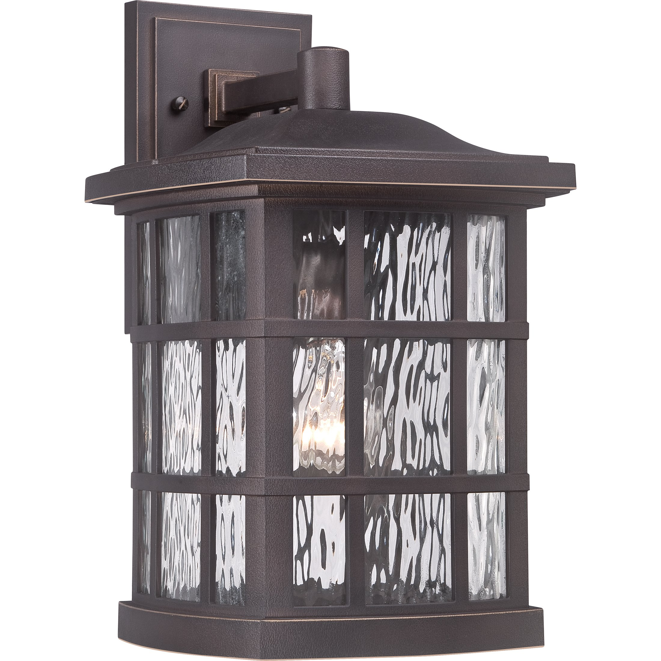 Quoizel SNN8409PN Stonington 1-Light Outdoor Lantern, Palladian Bronze