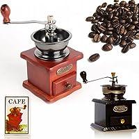 Otantik Ahşap Kahve Öğütücü Toz Kahve Çekme El Değirmen Öğütücü