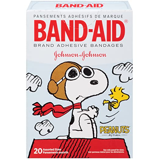 Band-Aid Peanuts Assorted Adhesive Bandages, 20 Count