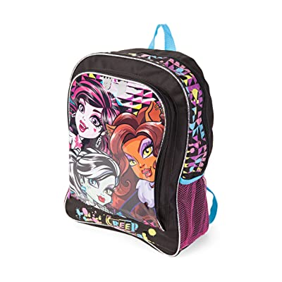 Monster High Group Sublimated Graphic Backpack: Clothing