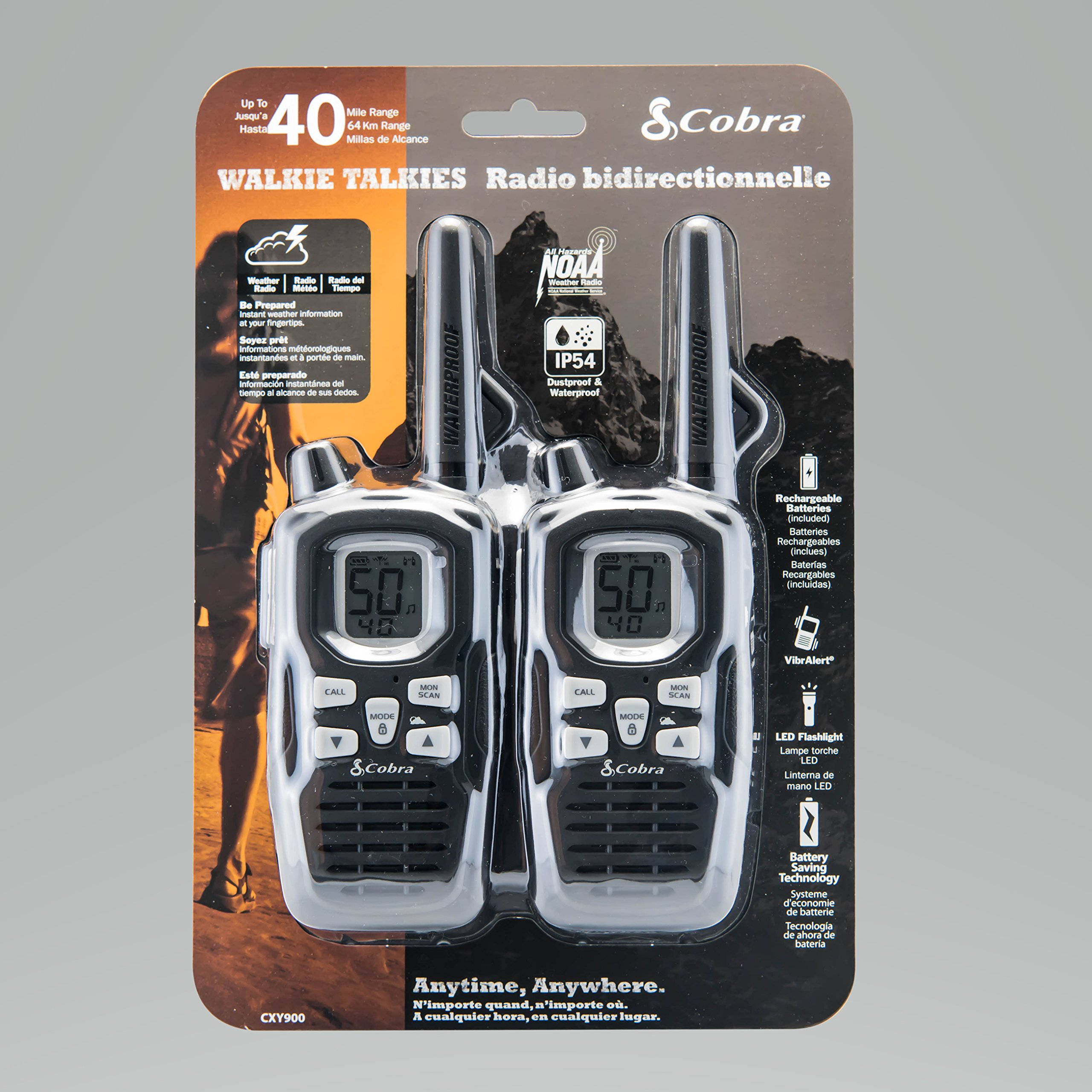 Cobra CXY900 Walkie Talkies 40-Mile Two-Way Radios, Rechargeable (Pair) by Cobra (Image #6)