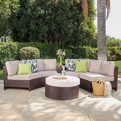 Amazon Com Riviera Portofino Outdoor Patio Furniture Wicker 6 Piece