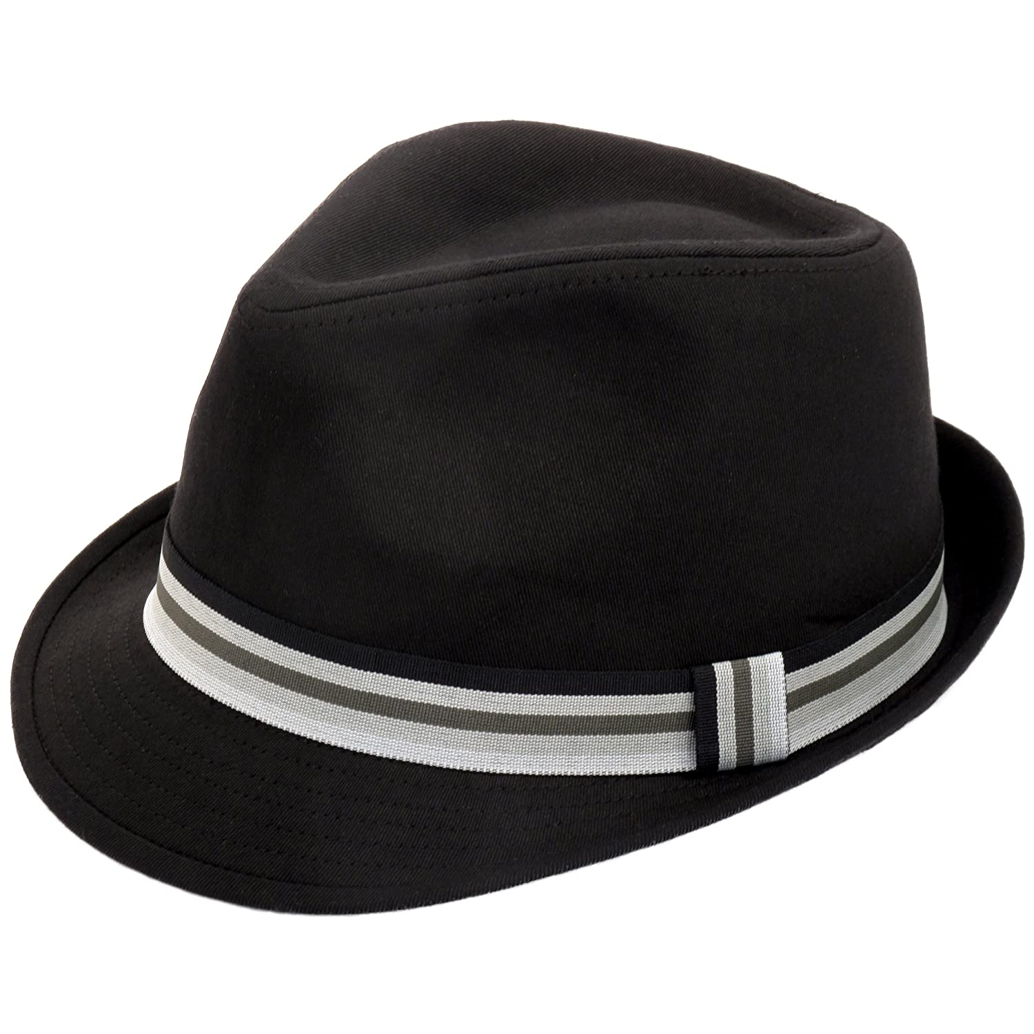 Classic black trilby hat with taffeta band