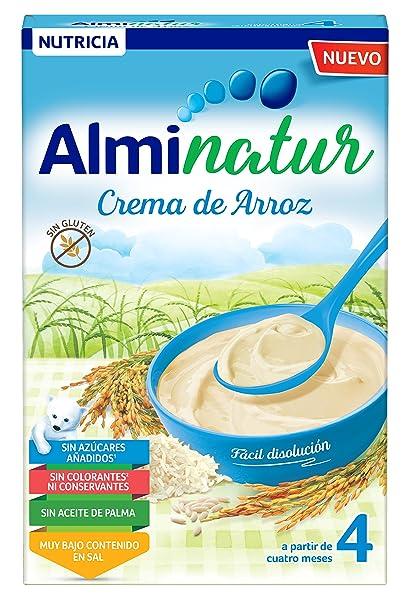 Alminatur Papilla de crema de arroz a partir de los 4 meses - Paquete de 7