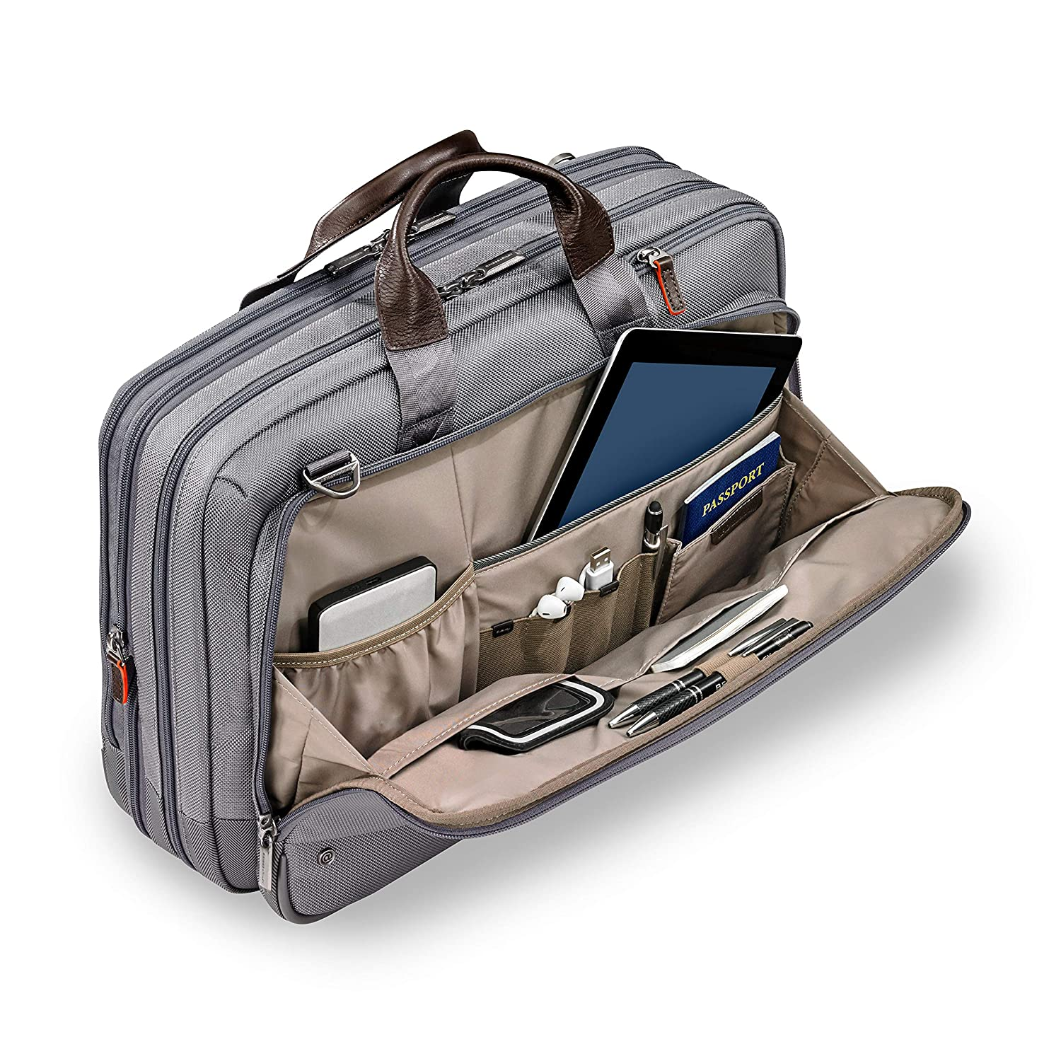 Briggs /& Riley Large Expandable Brief Briefcase Black One Size KB437X-4