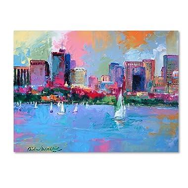 Boston 3 by Richard Wallich, 14x19-Inch Canvas Wall Art