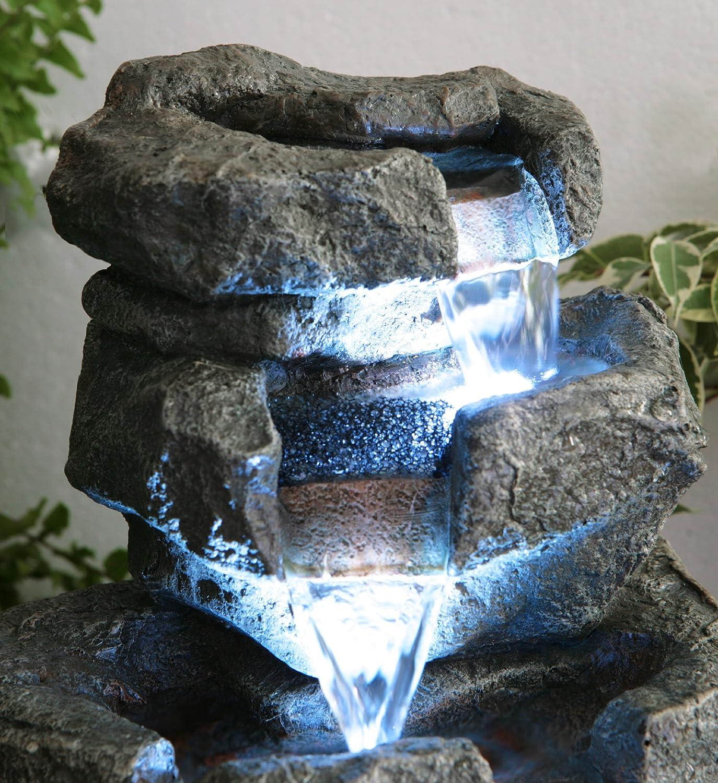 Fontaine DIntérieur Shubunkin à LED Zen Et Relaxation Amazonfr - Fontaine a eau d interieur