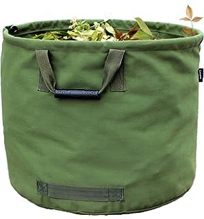 garden bag. Garden Bags Reusable Yard Waste Bag Gardening Trash Lawn Leaf Heavy Duty Military Canvas Fabric