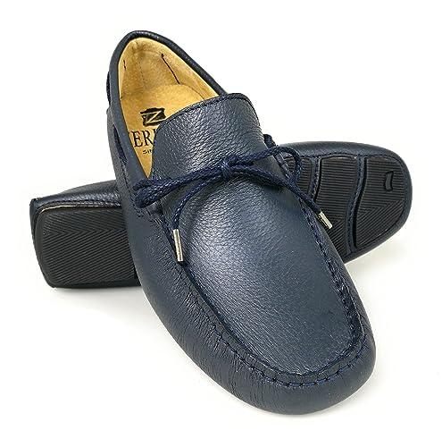 Zerimar Náuticos de Piel para Hombre   Náuticos Hombre Verano   Zapatos Náuticos Hombre   Mocasines Hombre: Amazon.es: Zapatos y complementos