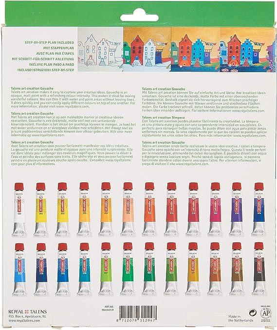 Onwijs Amazon.com: Talens Art Creation Gouache Set 24 x 12 ml YY-21