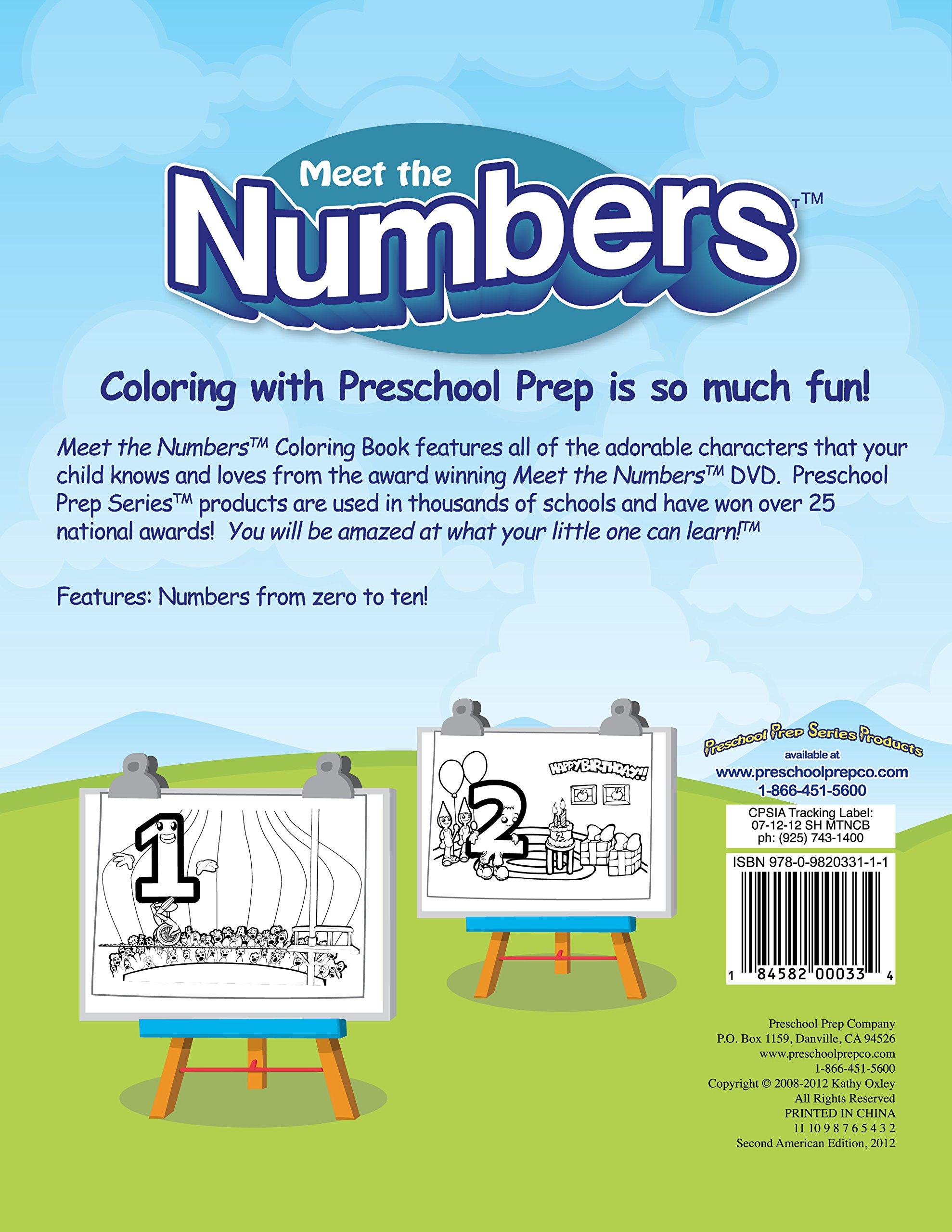 Meet the Numbers - Coloring Book: Kathy Oxley: 0184582000334: Amazon ...