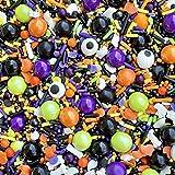 Sprinkles | Halloween sprinkles | Halloween jimmies | Orange and black sprinkles | Cake sprinkles | Cupcake sprinkles | Ghost