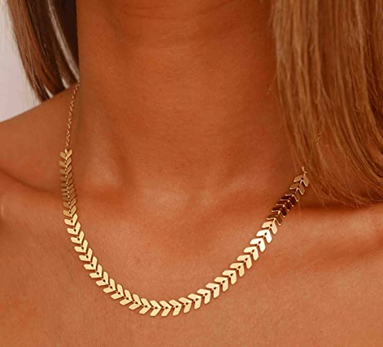 Gold Chevron Necklace - Gold Arrow Necklace - Gold Chain Necklace - Minimal  Gold Necklace - Simple Gold Necklace - Dainty Gold Necklace - Gold Boho  Necklace ... bd4d107b75