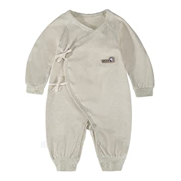 c62b649d75627 エルフ ベビー(Fairy Baby) オーガニックコットンベビー肌着 新生児ロンパース パジャマ 長袖 (66CM