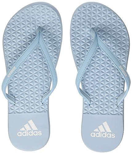 new concept 8a168 767c8 Adidas Eezay Soft W, Womens Flip flops, Multicolored (Icey Blue F17Ftwr