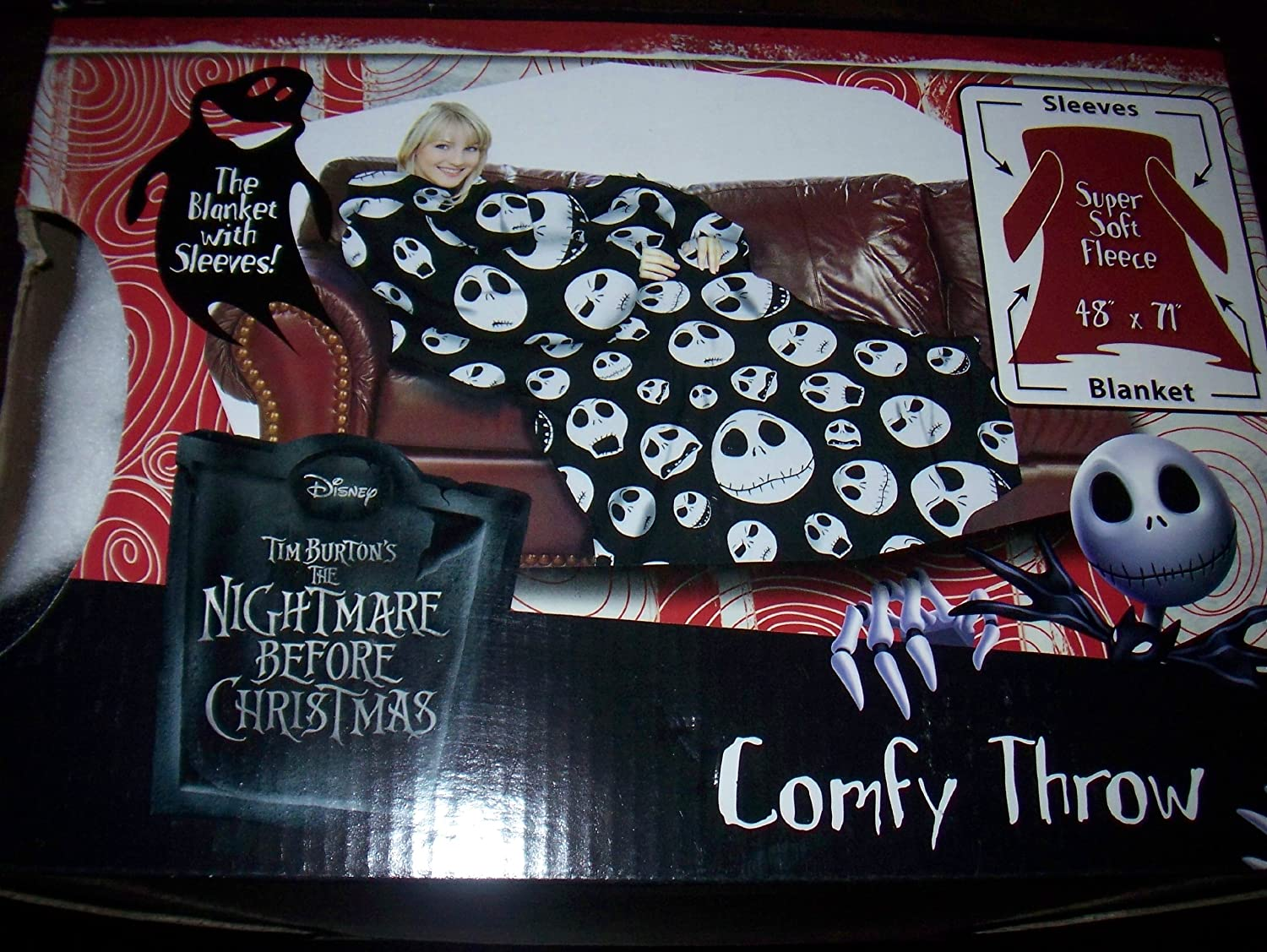 Amazon.com: Nightmare Before Christmas Comfy Throw Snuggie: Home ...