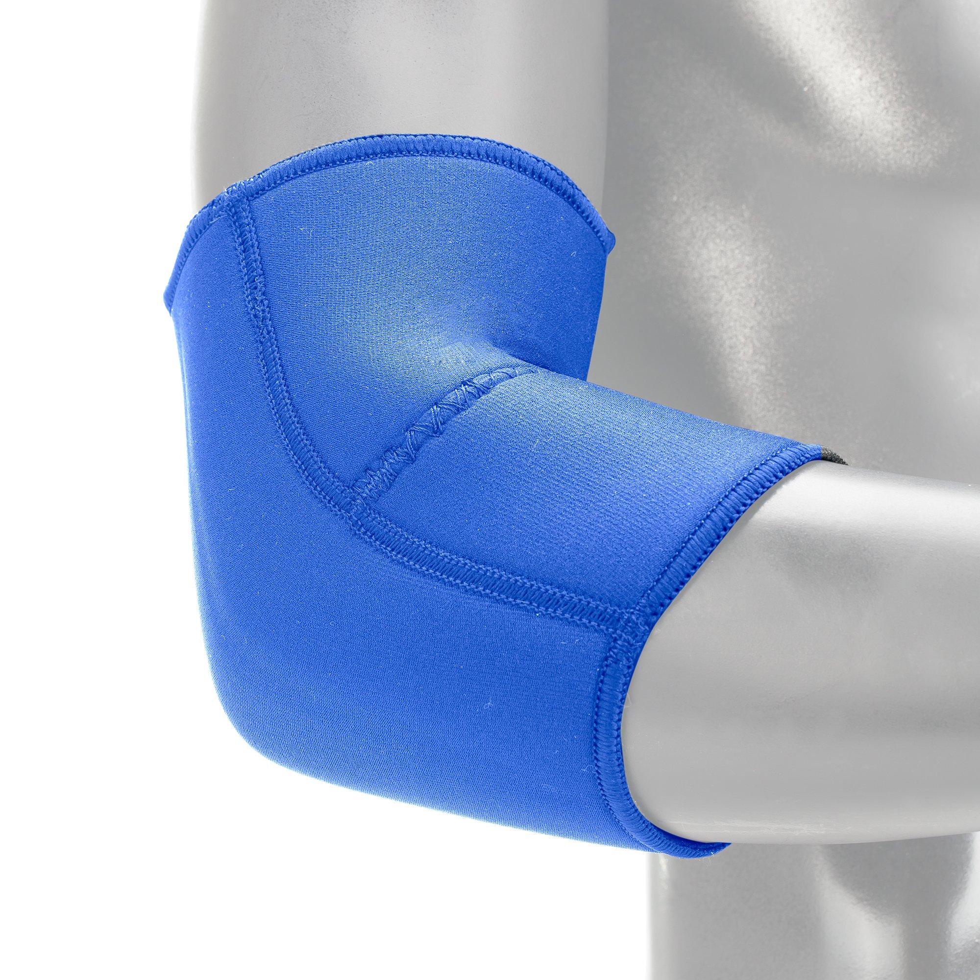EVS Sports Unisex-Adult Neoprene Elbow Support (Blue, Medium)