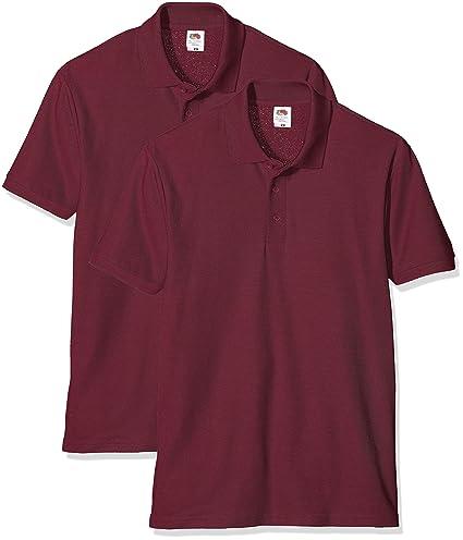 Fruit of the Loom, 65/35 Pique Polo, set de 2 - Camiseta para ...