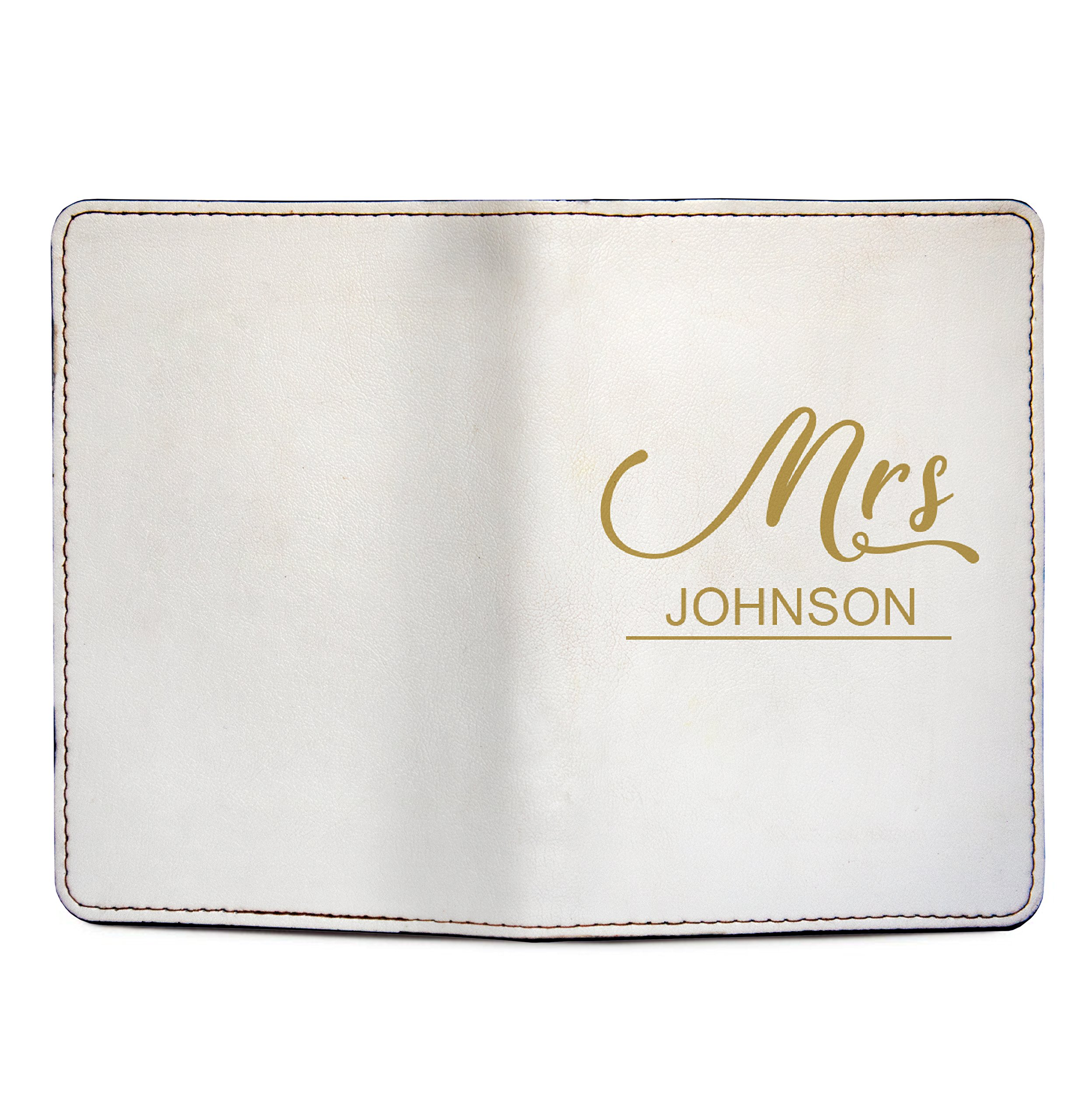 Mr And Mrs - Couple Passport Holder Personalized Passport Cover Set of 2 by With Love From Julie (Image #5)