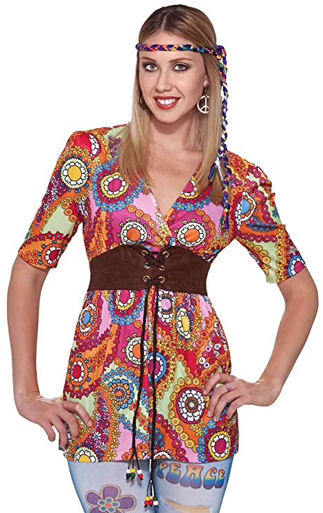 Hippie Dress | Long, Boho, Vintage, 70s Hippie Love Child Shirt $15.99 AT vintagedancer.com