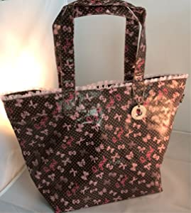 Multi-Purpose Designer Tote Bag: Large Tote Bag - Traveling Handbag, Beach Tote, Baby Tote, Craft Tote, Sewing, Knitting, and Hobby Tote Bag. Water-Resistant and Lined.