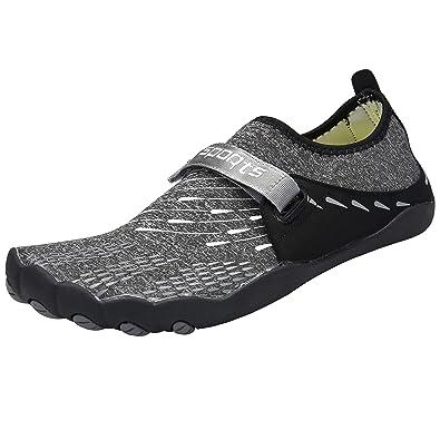 51d4440ab672 Zcoli Water Shoes Quick Dry Barefoot Beach Swim Surf Yoga Exercise for Men  Women Black