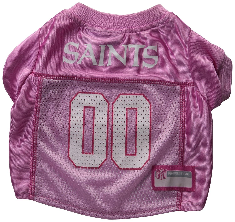 96c89461b ... Amazon.com Pets First NFL New Orleans Saints Pet Jersey, Small, pink  Sports ...