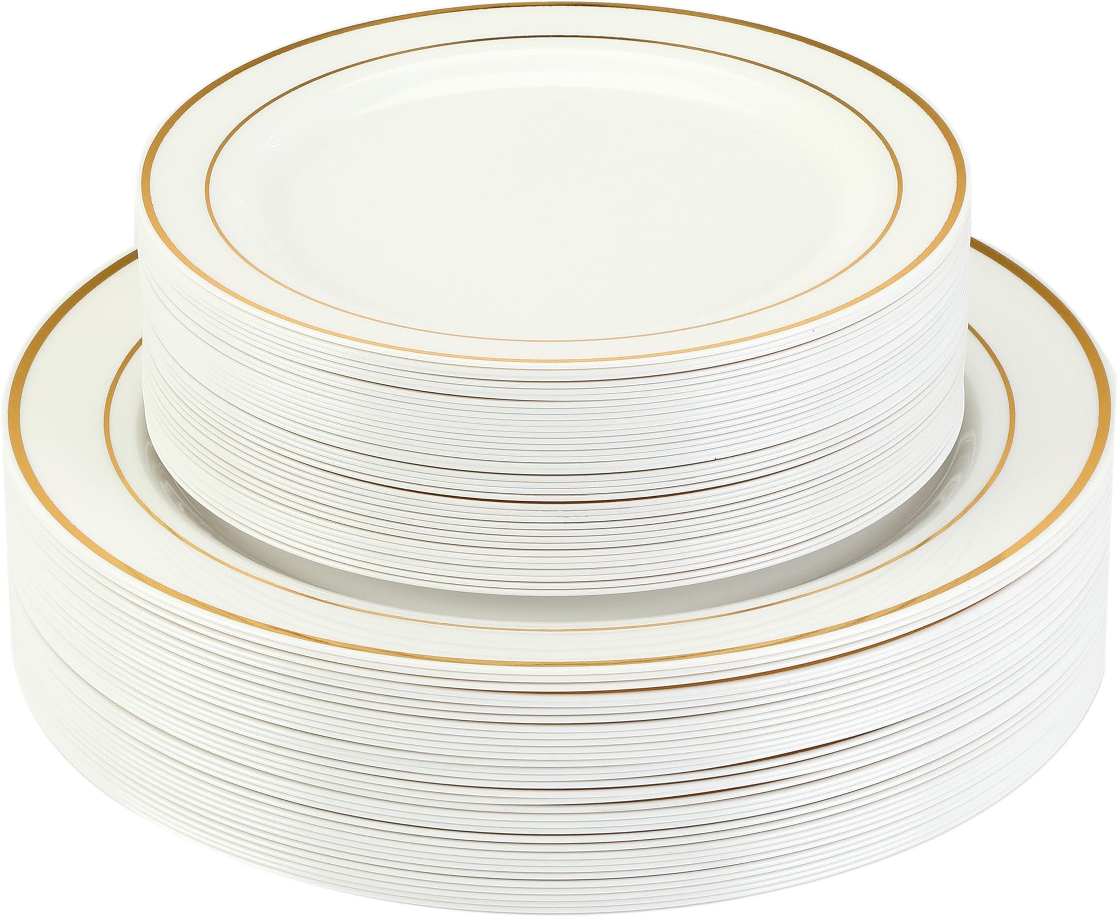 Premium Disposable Plastic Plates ...  sc 1 st  Amazon.com & Amazon.com: Plates - Disposable Plates Bowls \u0026 Cutlery: Health ...