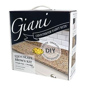 Giani Countertop Paint Kit, Chocolate Brown