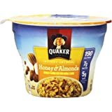 Quaker Oats Instant Express Oatmeal, Honey Almond, 1.76 Ounce (Packaging may vary)