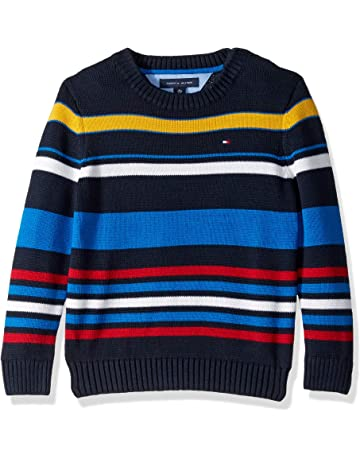 30c3fab0665c80 Tommy Hilfiger Boys' Adaptive Sweater with Adjustable Shoulder Closure