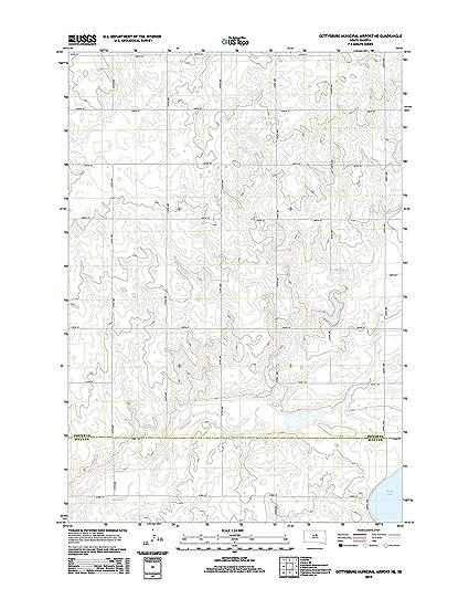 Amazon Com Topographic Map Poster Gettysburg Municipal Airport Ne