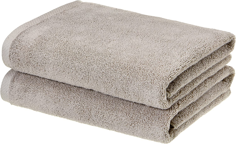 Amazon Basics Quick-Dry Now on sale Soft Super beauty product restock quality top 100% Platinum Bath Towels Cotton