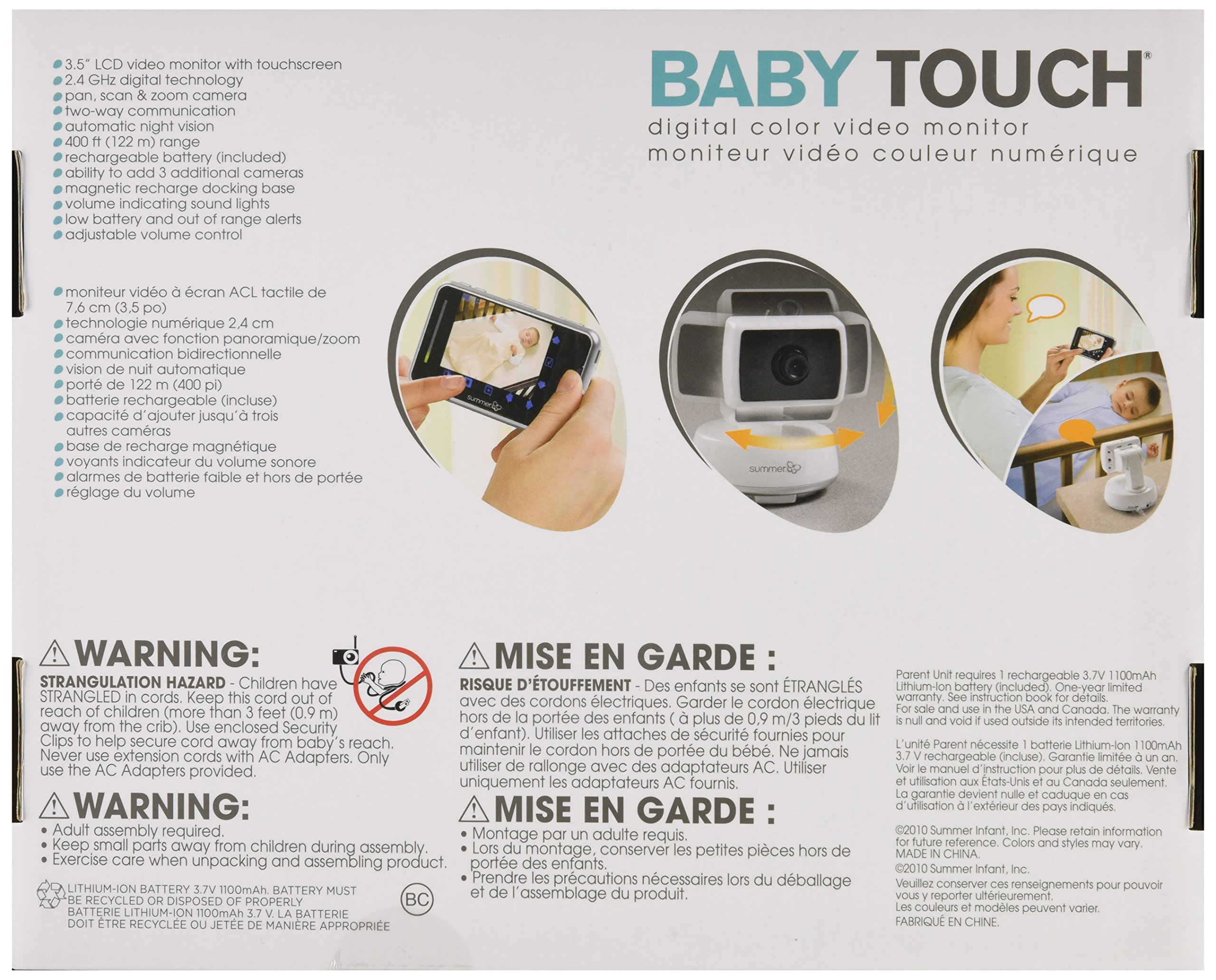 Summer Infant Baby Touch Pan/Scan/Zoom Video Baby Monitor, 3.5'' by Summer Infant (Image #8)