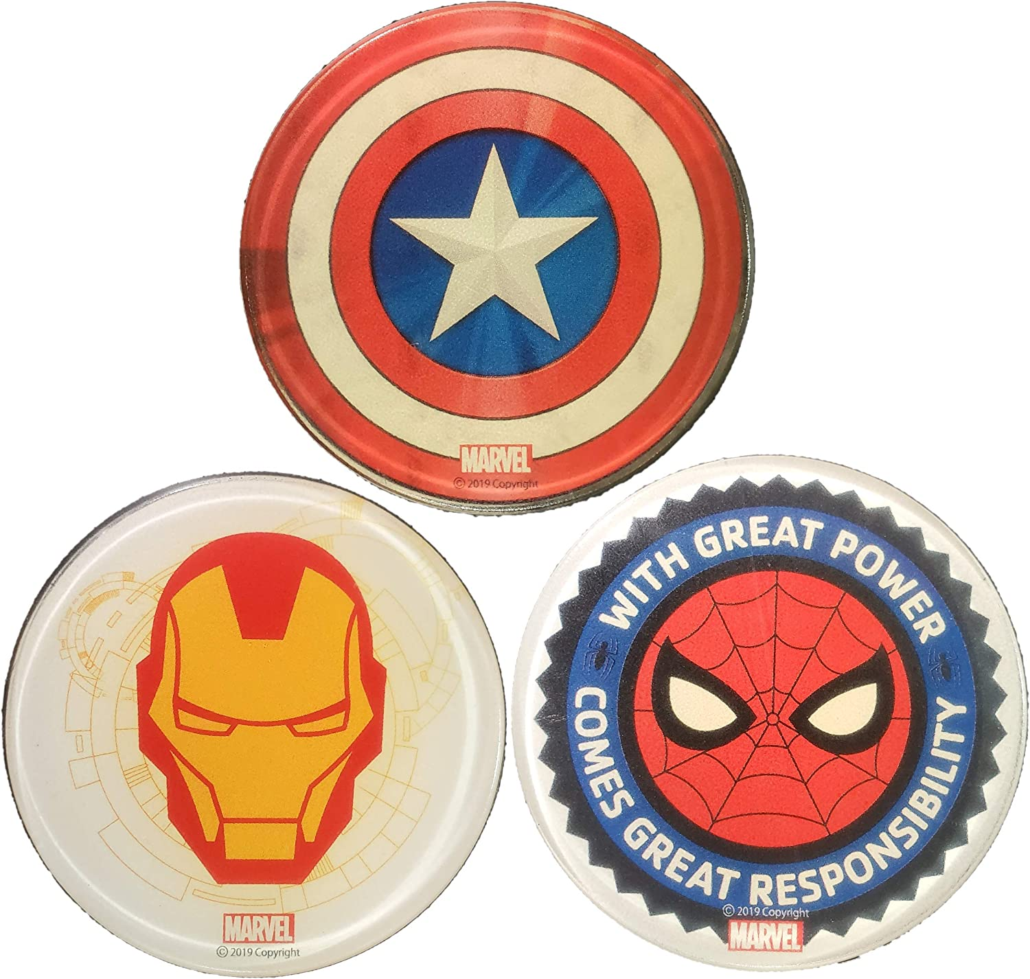 Durable Non Slip Pad AIRTEC Marvel Sticky Gel Pads Avengers 3-pcs Captain America//Iron Man//Spider Man Washable Scented Premium Accessories. Reusable Sticky Phone Holder Multi-Functional