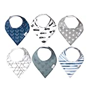 "Baby Bandana Drool Bibs for Drooling and Teething 6 Pack Gift Set For Boys ""Rider"" by Copper Pearl"
