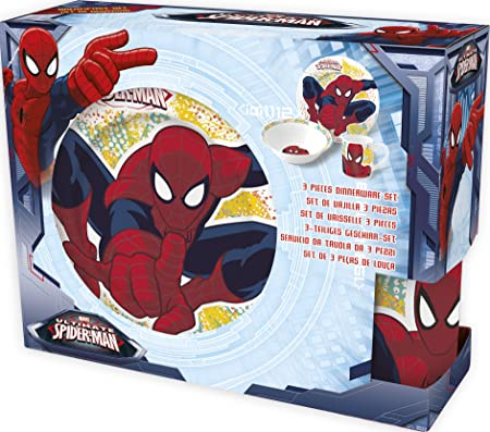 Boyz Toys Marvel Ultimate Spider-Man 3 Piece Childrens Ceramic Table Dinnerware Set - Plate  sc 1 st  Amazon UK & Boyz Toys Marvel Ultimate Spider-Man 3 Piece Childrens Ceramic Table ...