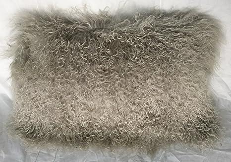 Amazon.com: Genuine (tibetano) de Mongolia lana piel cordero ...