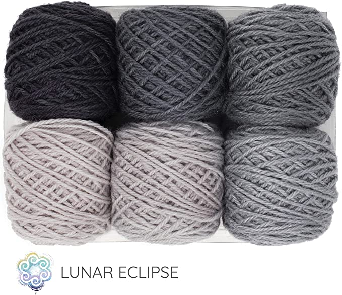 Hand dyed Merino Cashmere Roving Eclipse
