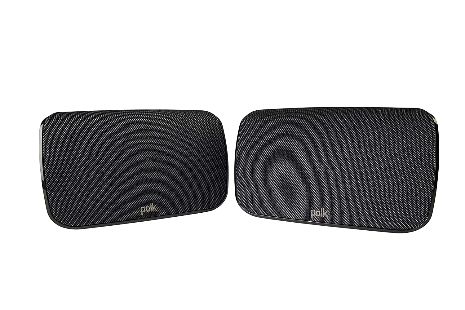 Polk Audio SR1 Wireless Rear Surround Speakers for MagniFi Max Sound Bar System | Easy Connectivity and Versatile Use | Upgrade to 5.1 Channels Sound | Pair, Black