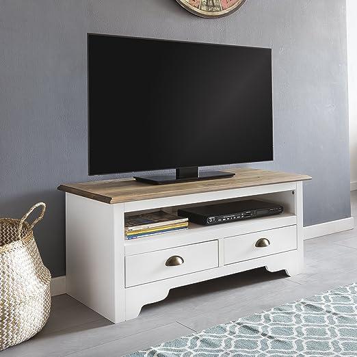 FineBuy Diseño Hi-Fi mueble bajo Peso Pino Madera Maciza – Cómoda 100 x 45 x 45