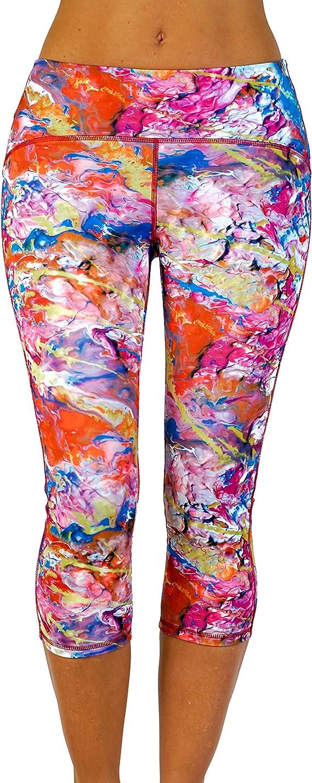 Beauty and the Mess Wearable Art Leggings Yoga Capri Pants for Women