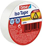 tesa 56192-00011-02 Cinta aislante en PVC 10m x 15mm, Color blanco